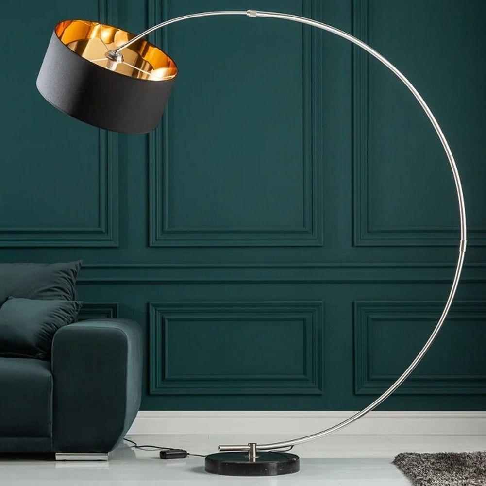 design bogenlampe arc schwarz gold inkl dimmer 180cm h he portofrei g nstig online bestellen. Black Bedroom Furniture Sets. Home Design Ideas
