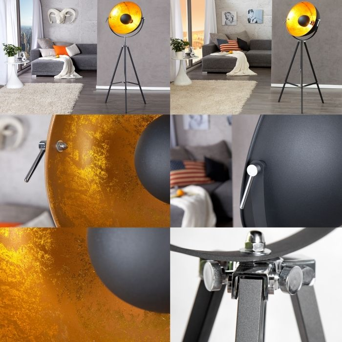 stehlampe spot excellent retro tripod film stehlampe spot. Black Bedroom Furniture Sets. Home Design Ideas