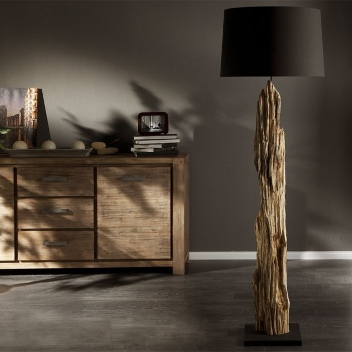 stehlampe aus holz selber machen. Black Bedroom Furniture Sets. Home Design Ideas