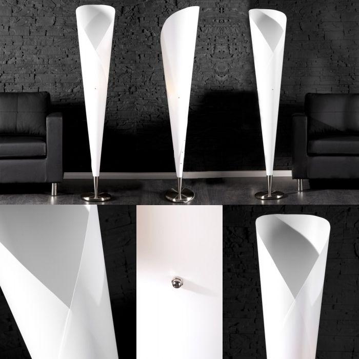 design retro lounge stehlampe stehleuchte gala weiss 155cm h he neu ebay. Black Bedroom Furniture Sets. Home Design Ideas