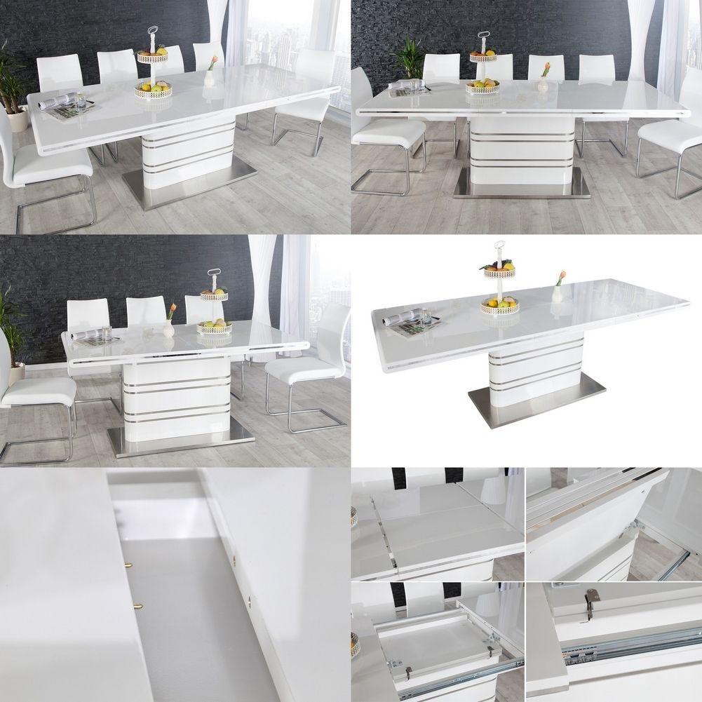 esstisch kyoto wei hochglanz 160 220cm ausziehbar portofrei kaufen cag onlineshop. Black Bedroom Furniture Sets. Home Design Ideas