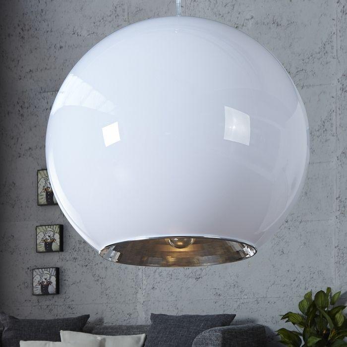 Design h ngelampe globus wei 45cm portofrei kaufen cag for Sheesham lampe