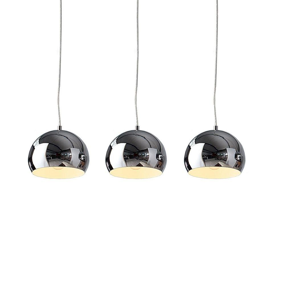 3er set design h ngelampe globus i chrom portofrei. Black Bedroom Furniture Sets. Home Design Ideas