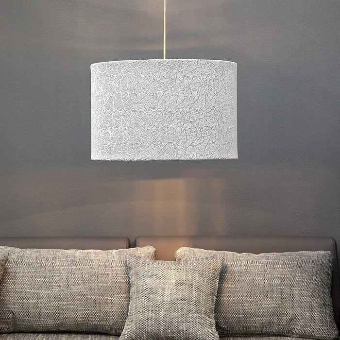 design lounge h ngelampe h ngeleuchte ronda grau weiss gold samtstoff 50cm ebay. Black Bedroom Furniture Sets. Home Design Ideas