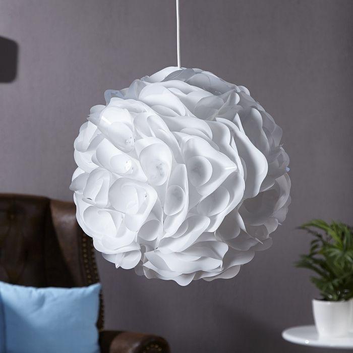 Design h ngelampe lumia wei 45cm portofrei kaufen cag for Sheesham lampe