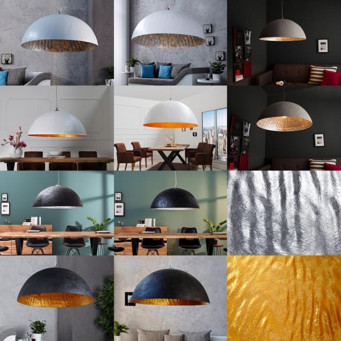 design lounge h ngelampe h ngeleuchte bol weiss gold 50cm neu ebay. Black Bedroom Furniture Sets. Home Design Ideas