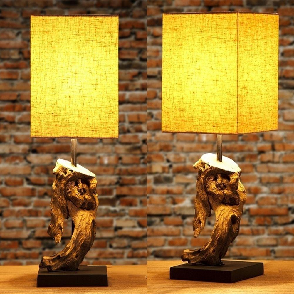 tischlampe jambi beige aus treibholz handgefertigt 45cm. Black Bedroom Furniture Sets. Home Design Ideas