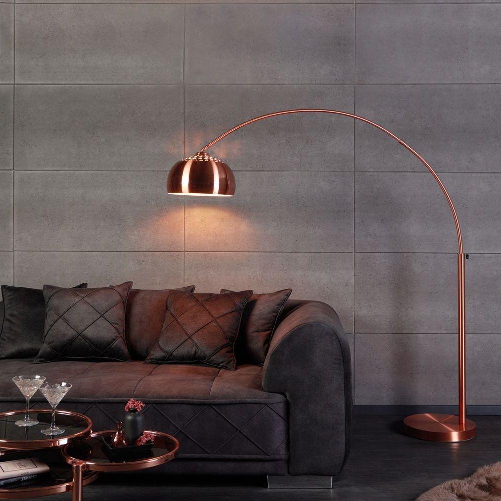 Xl bogenlampe stehlampe luxx kupfer 170 210cm for Stehlampe designklassiker