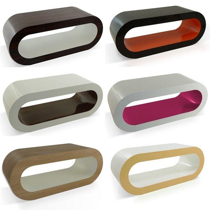 MADE In UK Retro Lounge Couchtisch LEO Mit Glasscheibe 90cm 24389 Farbkombinationen