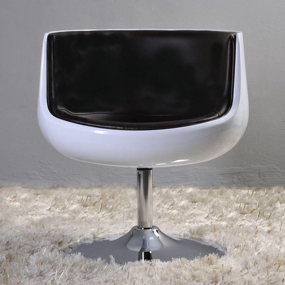 design sessel oslo wei schwarz drehbar portofrei g nstig online kaufen cag onlineshop. Black Bedroom Furniture Sets. Home Design Ideas