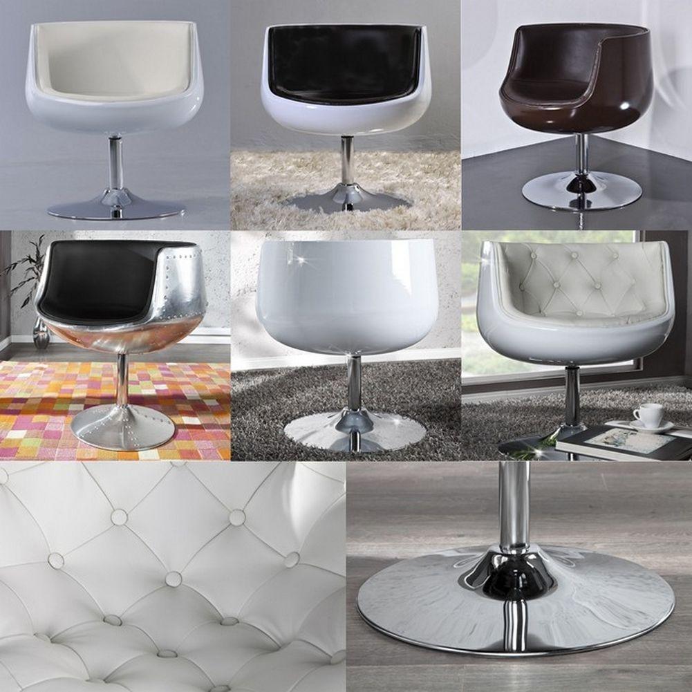 design sessel oslo wei schwarz drehbar portofrei g nstig. Black Bedroom Furniture Sets. Home Design Ideas