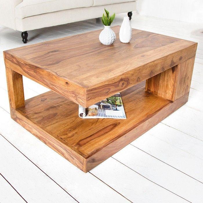 couchtisch beistelltisch agra aus sheesham massiv holz gewachst 90cm x 60cm ebay. Black Bedroom Furniture Sets. Home Design Ideas