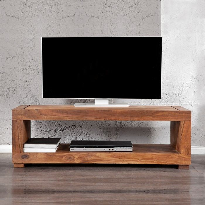 tv tisch fernsehtisch mumbai aus sheesham massiv holz gewachst 120cm neu ebay. Black Bedroom Furniture Sets. Home Design Ideas