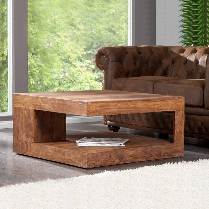 couchtisch beistelltisch agra aus sheesham massiv holz gewachst 90cm x 90cm ebay. Black Bedroom Furniture Sets. Home Design Ideas