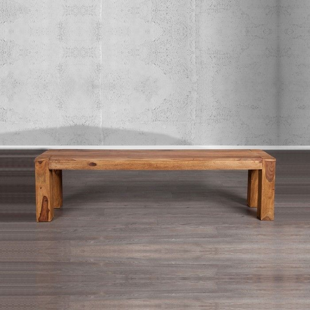 Designermöbel holz  Sitzbank SALEM Sheesham massiv Holz 140cm portofrei kaufen cagü ...