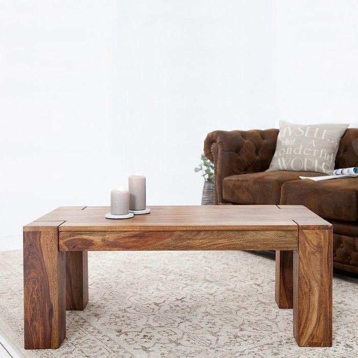 couchtisch beistelltisch salem sheesham massiv holz gewachst 110cm x 60cm neu ebay. Black Bedroom Furniture Sets. Home Design Ideas