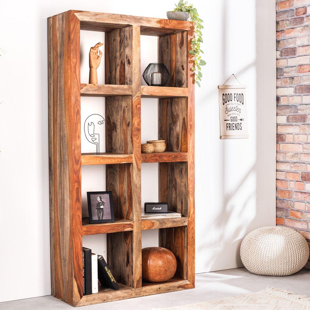 regal b cherregal salem aus sheesham massiv holz gewachst 180cm x 90cm neu ebay. Black Bedroom Furniture Sets. Home Design Ideas