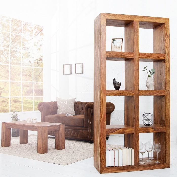regal b cherregal salem aus sheesham massiv holz gewachst 180cm x 90cm neu ebay. Black Bedroom Furniture Sets. Home Design Ideas