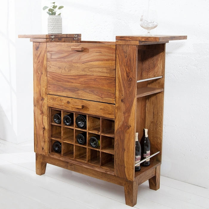 exklusive bar barschrank salem aus sheesham massiv holz. Black Bedroom Furniture Sets. Home Design Ideas