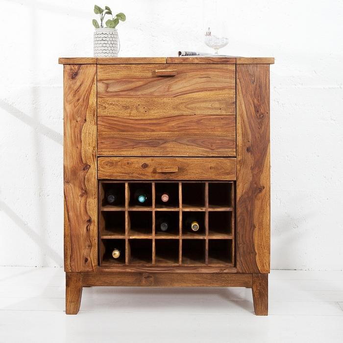 exklusive bar bartisch salem aus sheesham massiv holz gewachst 85cm x 93cm neu ebay. Black Bedroom Furniture Sets. Home Design Ideas