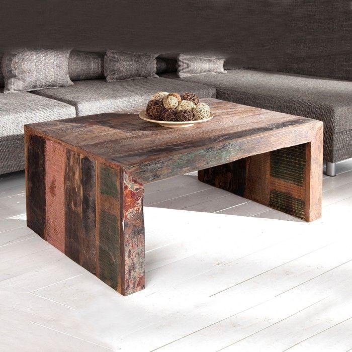 couchtisch beistelltisch truhe borneo aus recyceltem. Black Bedroom Furniture Sets. Home Design Ideas