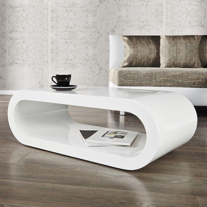 design lounge couchtisch eliptica weiss hochglanz schwarzer umrandung 120cm ebay. Black Bedroom Furniture Sets. Home Design Ideas
