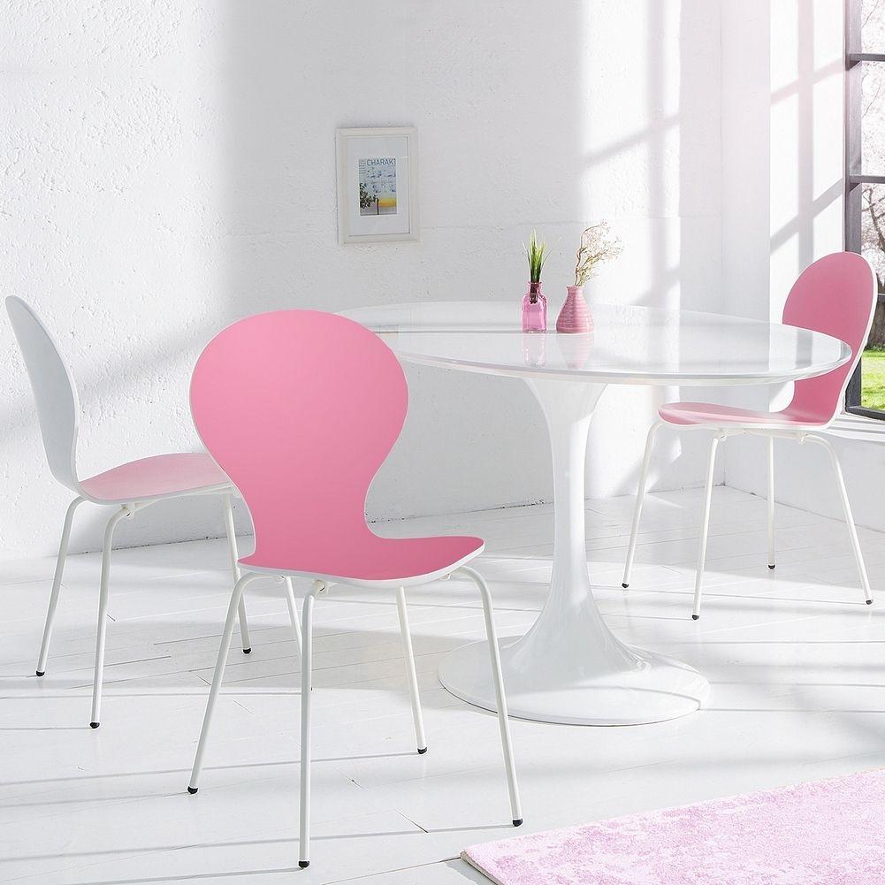 stuhl jacobsen wei rosa versandkostenfrei g nstig online kaufen cag onlineshop designerm bel. Black Bedroom Furniture Sets. Home Design Ideas