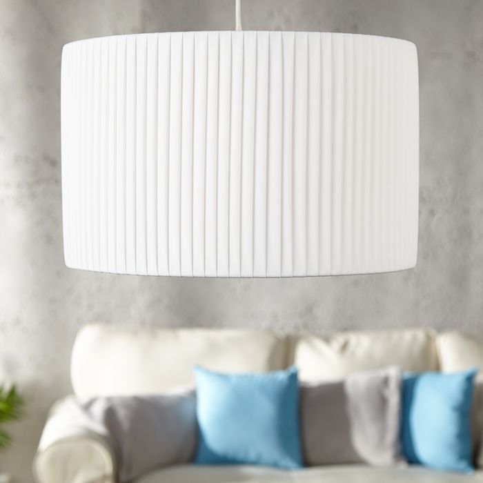 design plissee h ngelampe loop wei rund 40cm portofrei. Black Bedroom Furniture Sets. Home Design Ideas