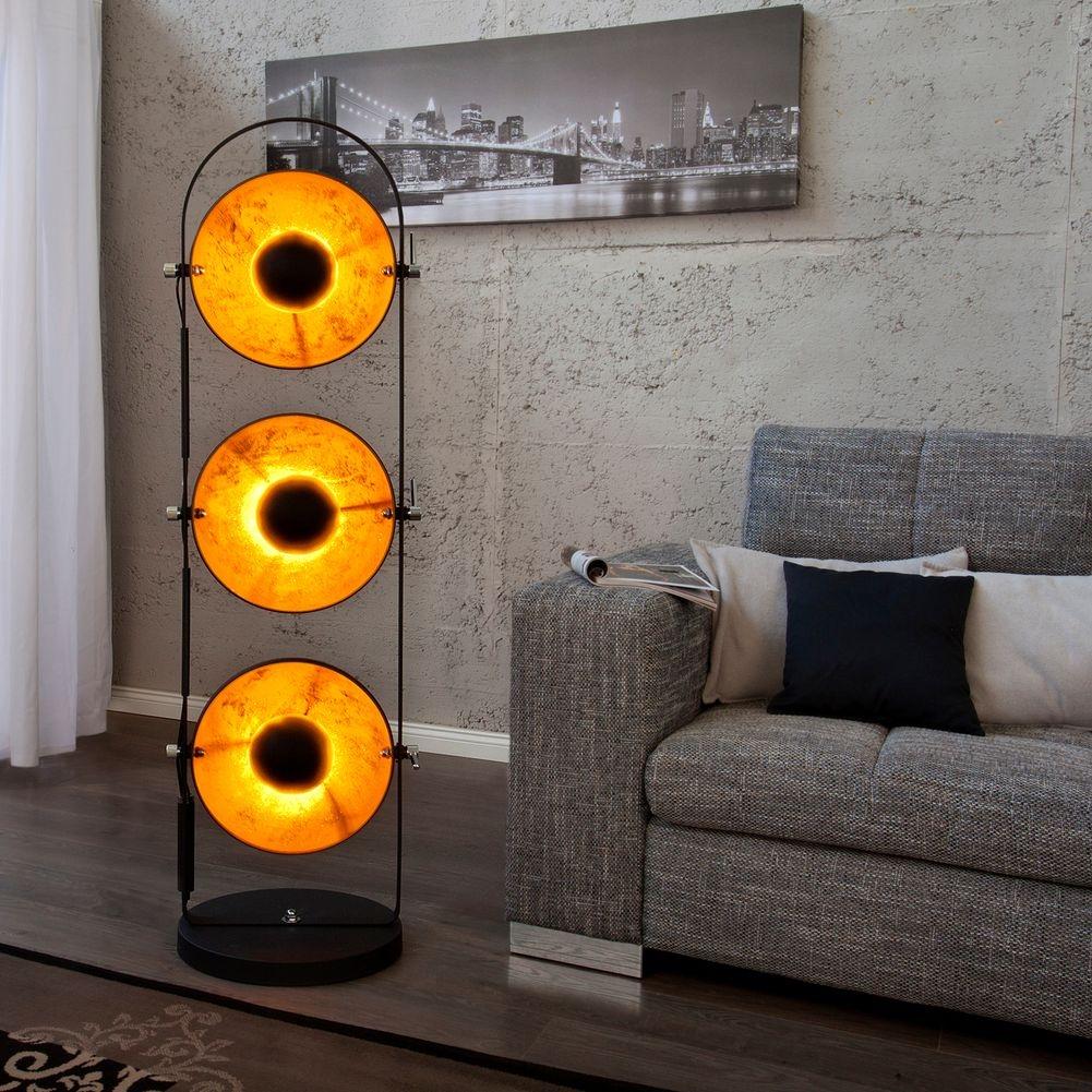 7 stehlampe spot schwarz gold 160cm stehlampe spot. Black Bedroom Furniture Sets. Home Design Ideas