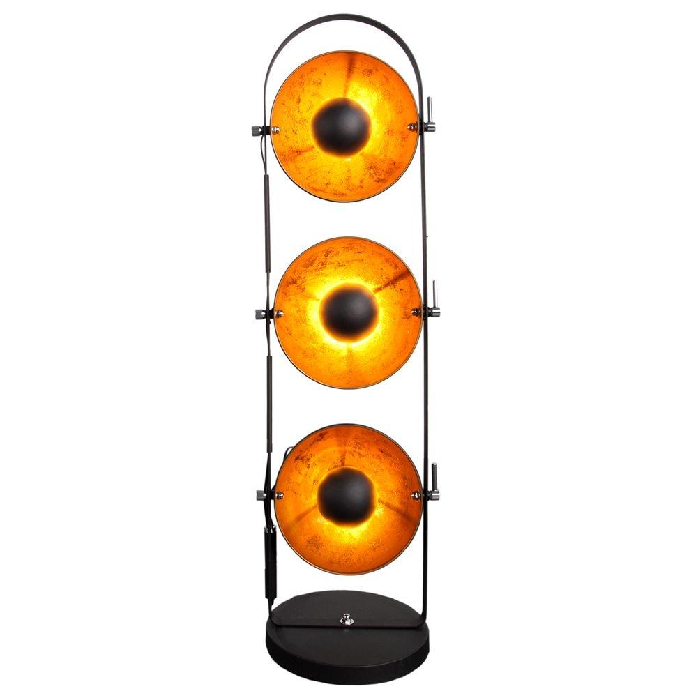 stehlampe gold schwarz affordable erstaunlich stehleuchte. Black Bedroom Furniture Sets. Home Design Ideas