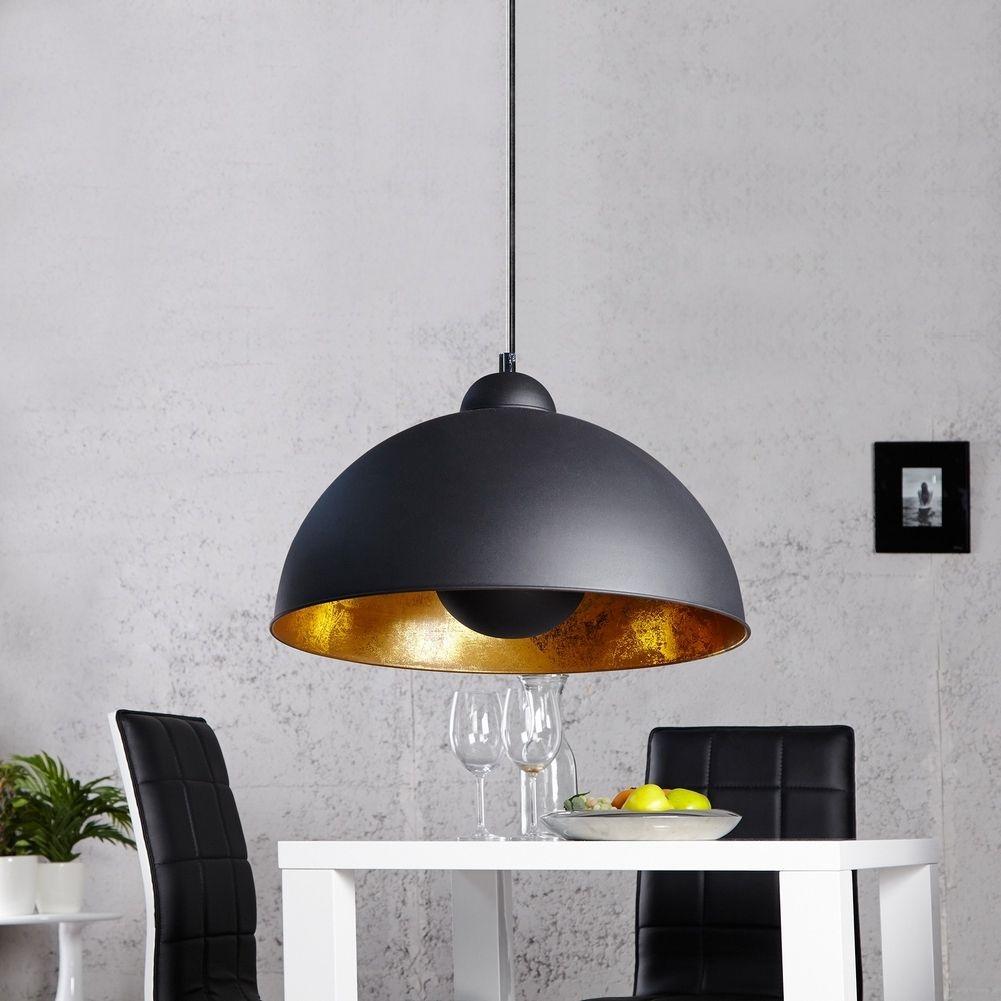 H ngelampe spot schwarz gold 53cm portofrei kaufen cag for Sheesham lampe