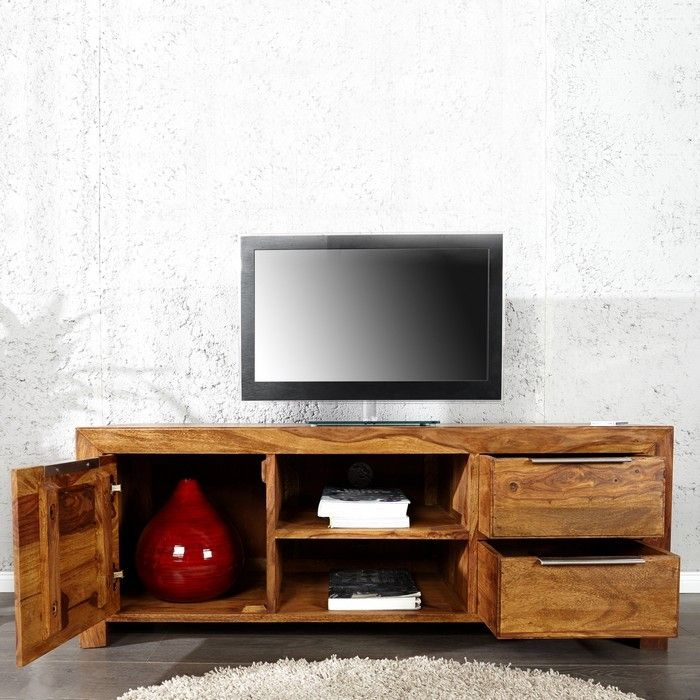 tv tisch satna sheesham massiv holz gewachst 135cm. Black Bedroom Furniture Sets. Home Design Ideas