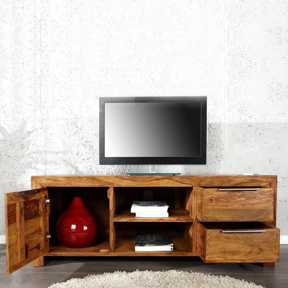 tv tisch satna sheesham massiv holz gewachst 135cm portofrei online kaufen cag onlineshop. Black Bedroom Furniture Sets. Home Design Ideas