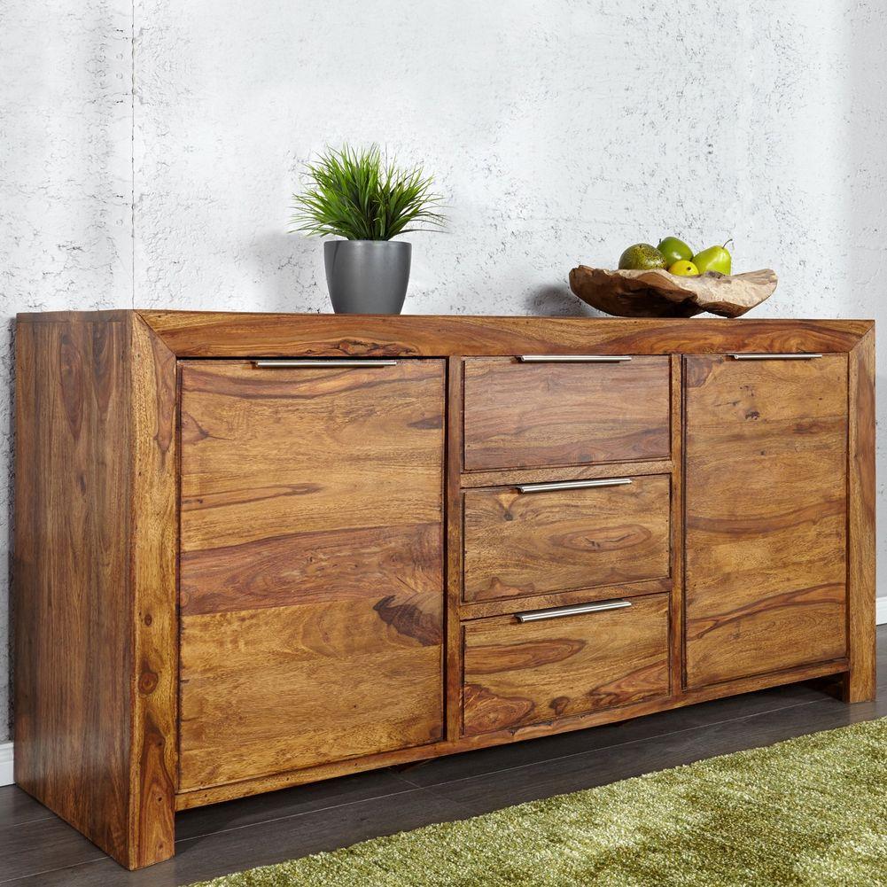 sideboard satna sheesham massiv gewachst 140cm portofrei kaufen cag onlineshop designerm bel. Black Bedroom Furniture Sets. Home Design Ideas