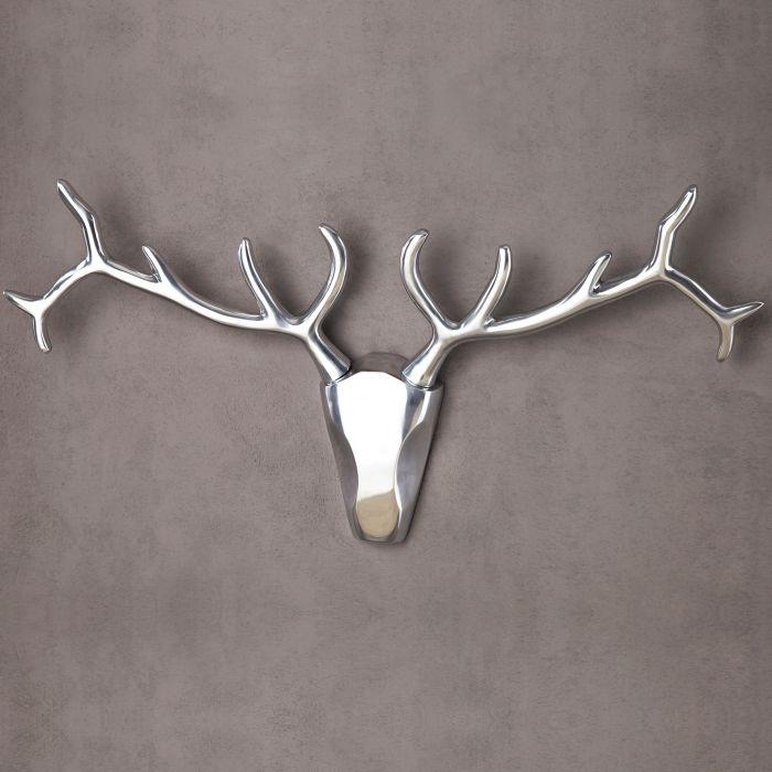 deko stierkopf sch del geweih patronus silber aus. Black Bedroom Furniture Sets. Home Design Ideas