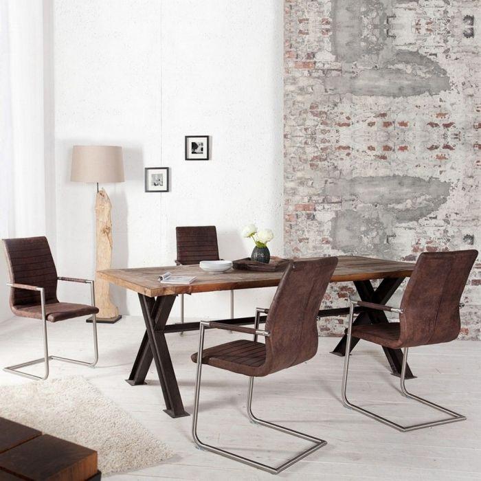design freischwinger stuhl chicago braun mit armlehne aus microfaser neu ebay. Black Bedroom Furniture Sets. Home Design Ideas