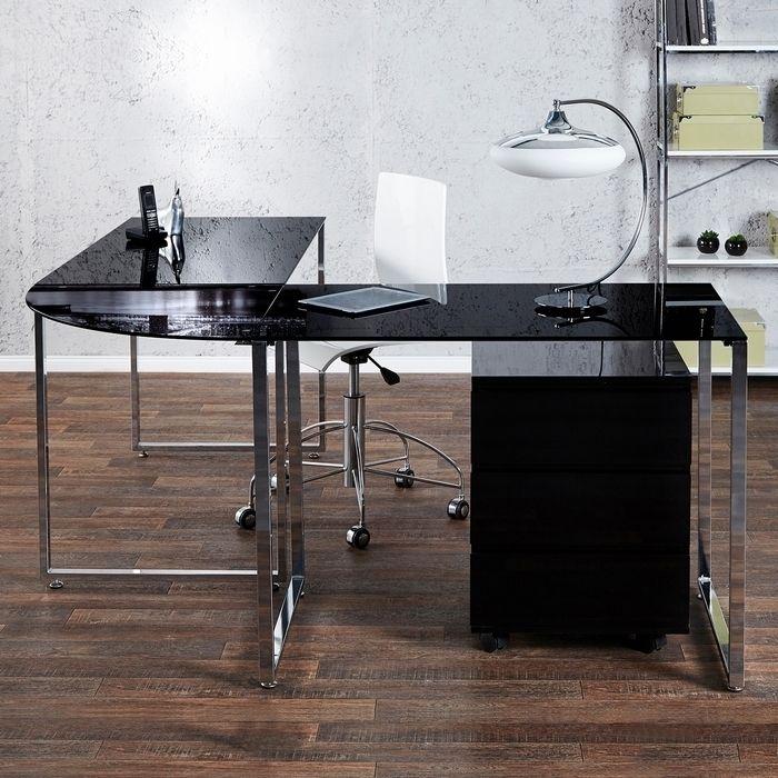 design schreibtisch eckschreibtisch manhattan schwarz. Black Bedroom Furniture Sets. Home Design Ideas