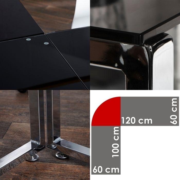 Eckschreibtisch glas neuesten design for Eckschreibtische schwarz