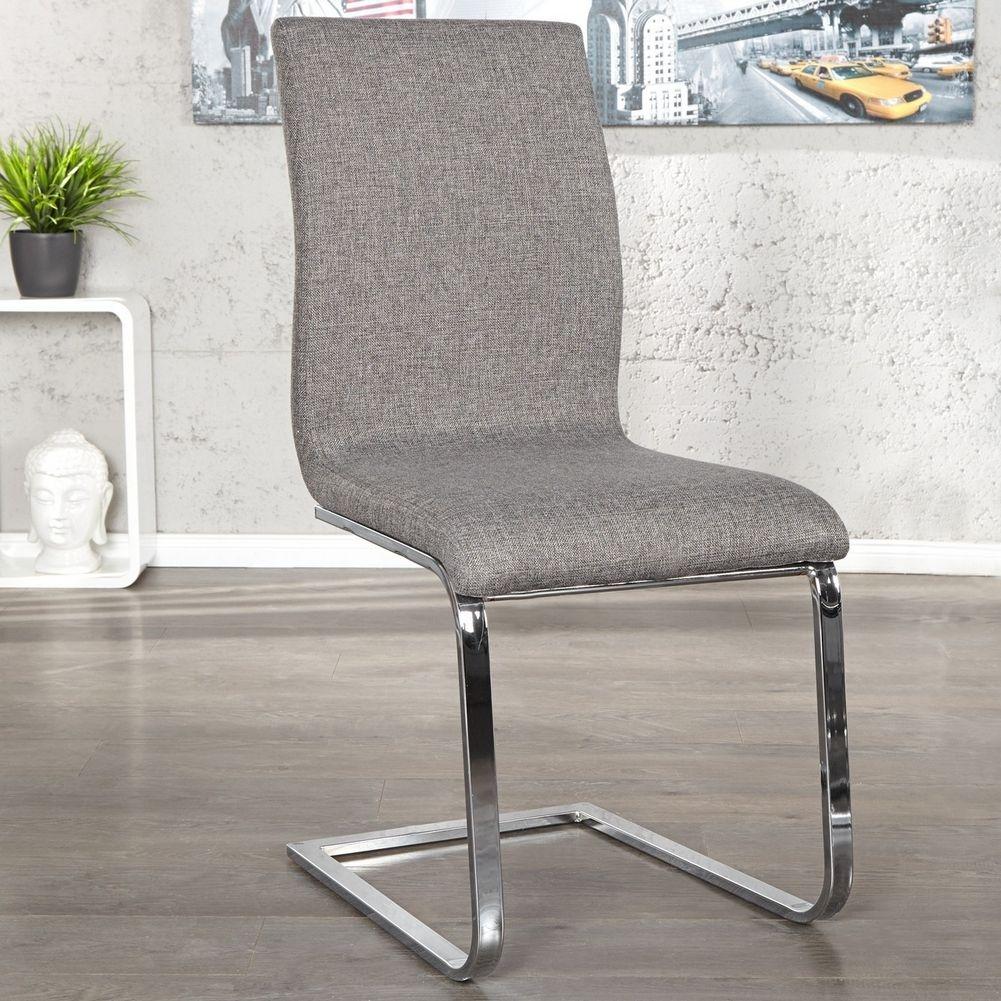 Design lounge freischwinger stuhl enzo grau aus for Design stuhl freischwinger