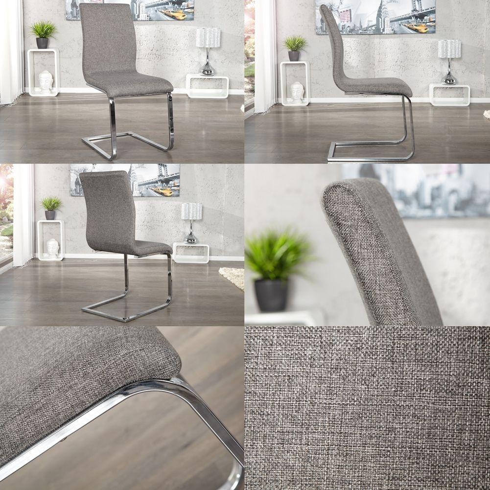 Design lounge freischwinger stuhl enzo grau aus for Design lounge stuhl