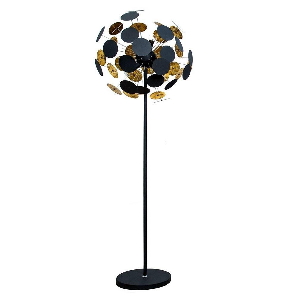 xl design stehlampe plato schwarz gold 170cm h he portofrei kaufen cag onlineshop. Black Bedroom Furniture Sets. Home Design Ideas