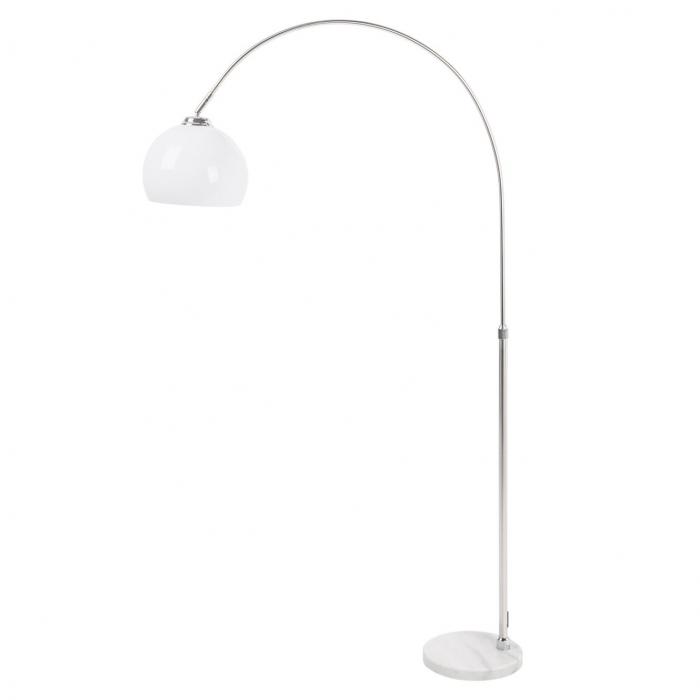 design bogenlampe luxx wei mit chromfu 160cm h he portofrei g nstig online bestellen cag. Black Bedroom Furniture Sets. Home Design Ideas