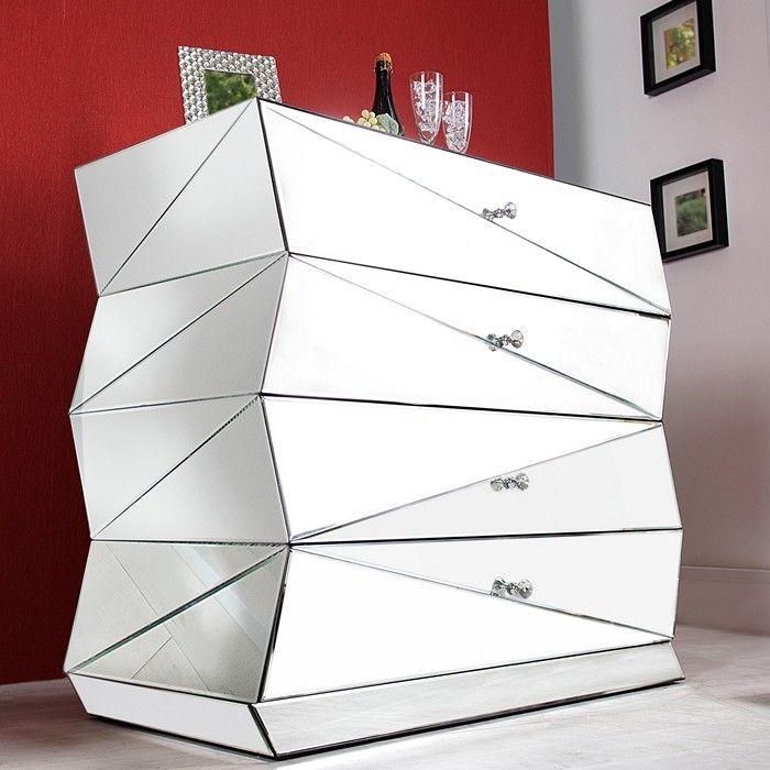 Designermöbel highboard  Sideboard FACETTO mit Facettenschliff 100cm portofrei kaufen cagü ...