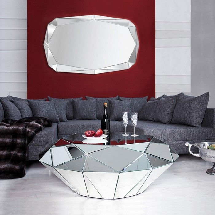 Xl wandspiegel diamant mit facettenschliff 20 - Wandspiegel facettenschliff ...