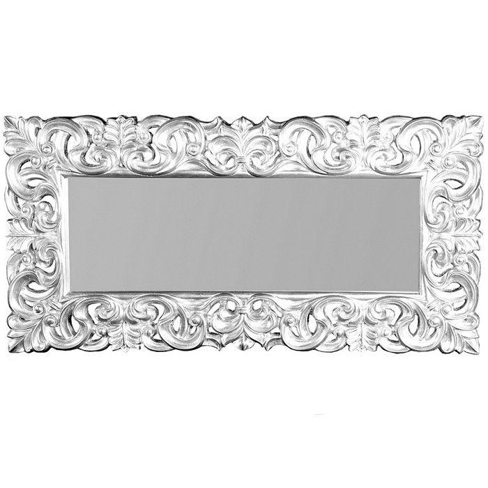 Xxl romantischer wandspiegel florence silber antik in for Wandspiegel design