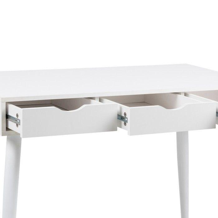 schreibtisch viborg wei mit 3 schubladen 110cm portofrei g nstig online bestellen cag. Black Bedroom Furniture Sets. Home Design Ideas