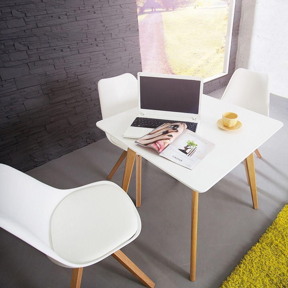 retro esstisch g teborg wei eiche 80cm im skandinavischen. Black Bedroom Furniture Sets. Home Design Ideas