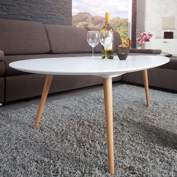 retro couchtisch g teborg wei eiche tropfenform 75cm im skandinavischen stil portofrei online. Black Bedroom Furniture Sets. Home Design Ideas