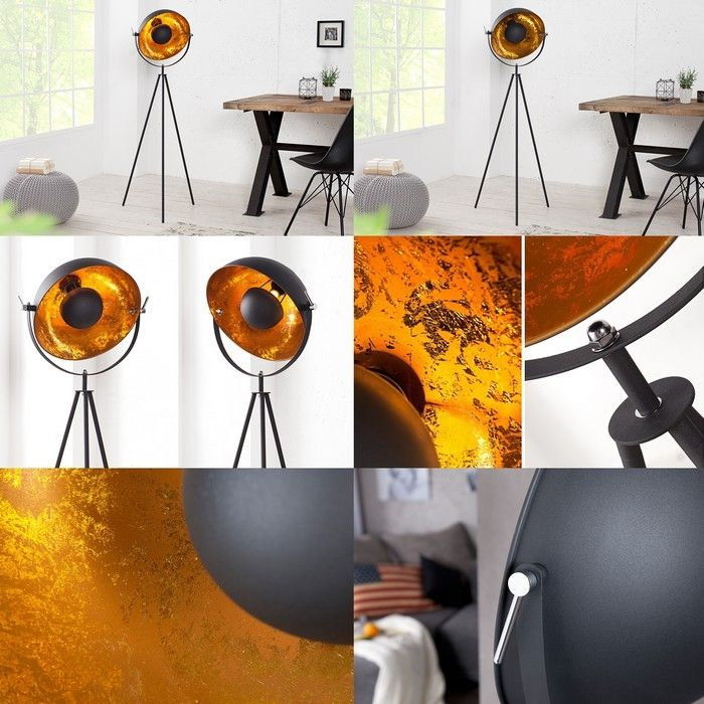 stehlampe spot excellent retro tripod film stehlampe spot. Black Bedroom Furniture Sets. Home Design Ideas