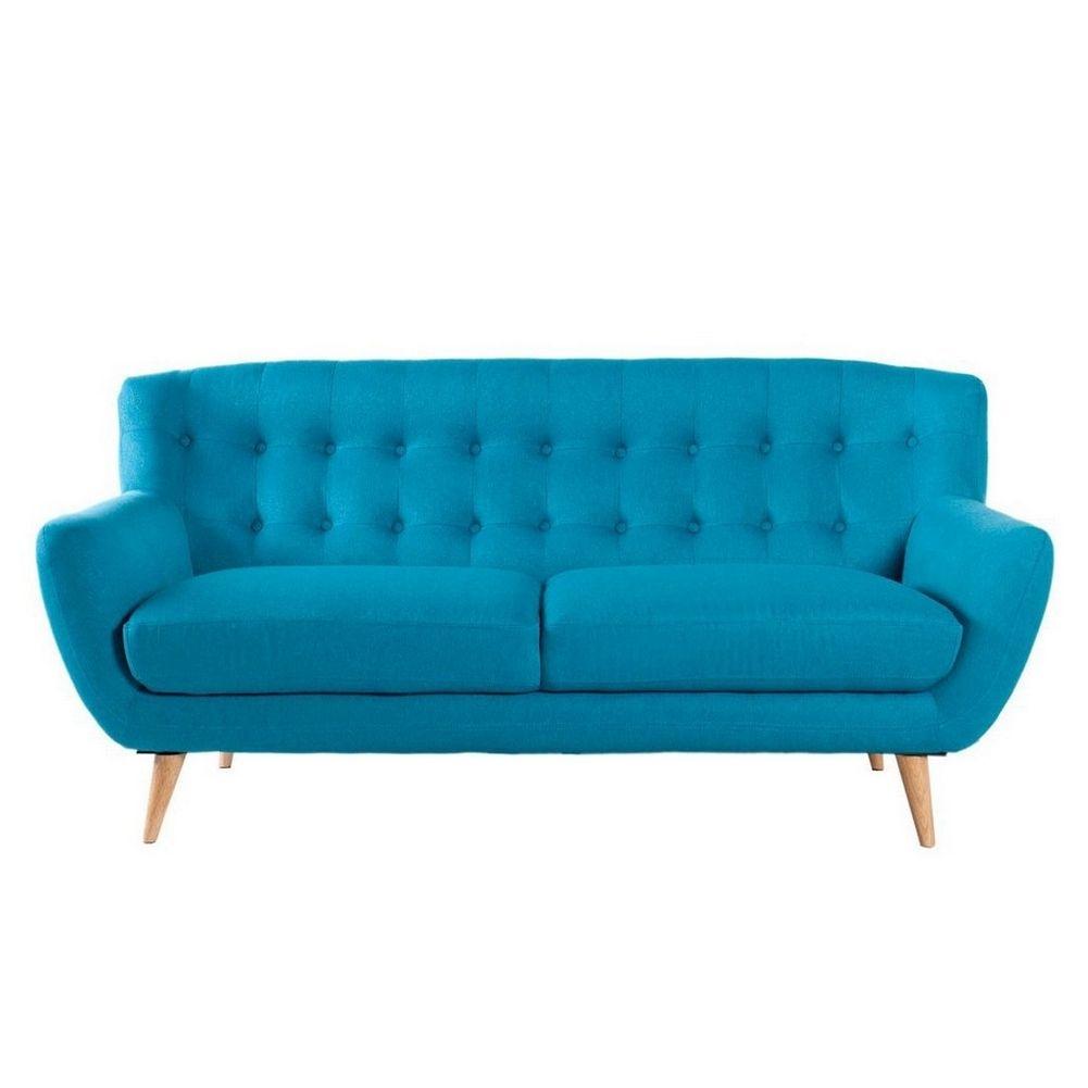 retro 3er sofa g teborg petrolblau eiche im skandinavischen stil portofrei online kaufen cag. Black Bedroom Furniture Sets. Home Design Ideas
